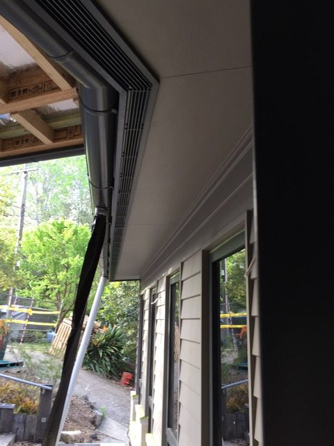 We installed bar grilles into the eaves to keep the roof of this house well ventilated. -Thornleigh